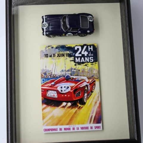 (SOLD) framed model of Ferrari 250 SWB