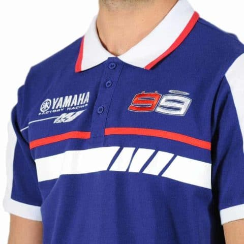 POLO Yamaha MotoGP Factory Racing Poloshirt Lorenzo No 99 BSB SBK Bike