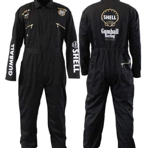 OVERALLS Gumball 3000 Rally Coverall Boiler Suit Dickies Shell Zip Black