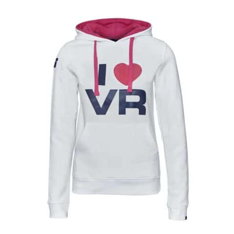 SWEATSHIRT ladies Hoody Bike MotoGP I Love Valentino Rossi Hoodie White