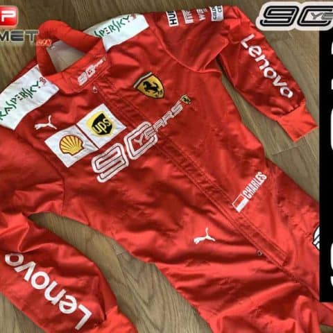Charles Leclerc 2019 Scuderia Ferrari 90 Years replica Racing Suit Ferrari F1 (Copy)