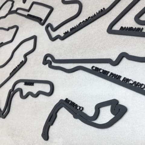Formula One Circuits - Complete Collection Acrylic Wall Art