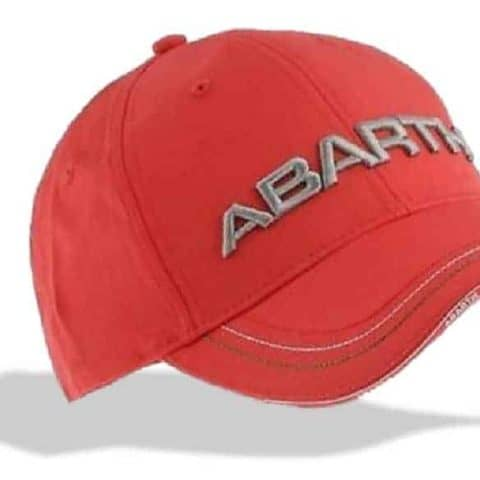 CAP Abarth Rally Fiat Red with 3D Embroidered Logo Motorsport Merchandise