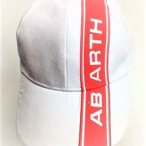 CAP Abarth Rally Fiat White with Red Stripe Logo Motorsport Merchandise