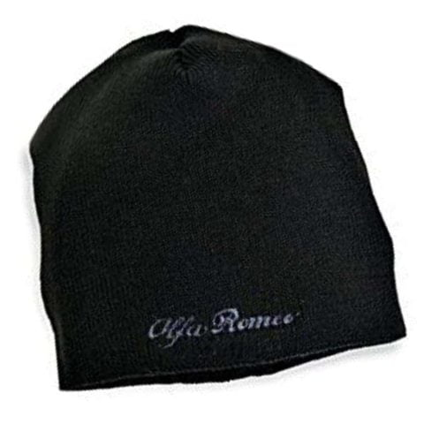 HAT Beanie Alfa Romeo Touring Sportscar Embroidered Logo Wool Acrylic Black