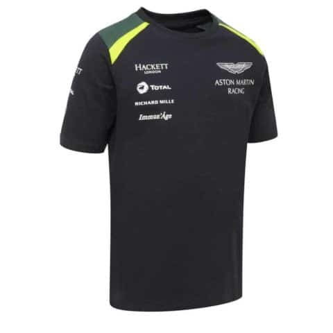 T-SHIRT kids Aston Martin Racing Team Hackett Sponsor Navy Child