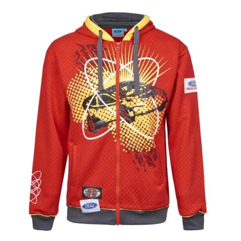 Sweatshirt 3036 Hoodie Adult Rally Cross OMSE Ford Fiesta Extreme Red