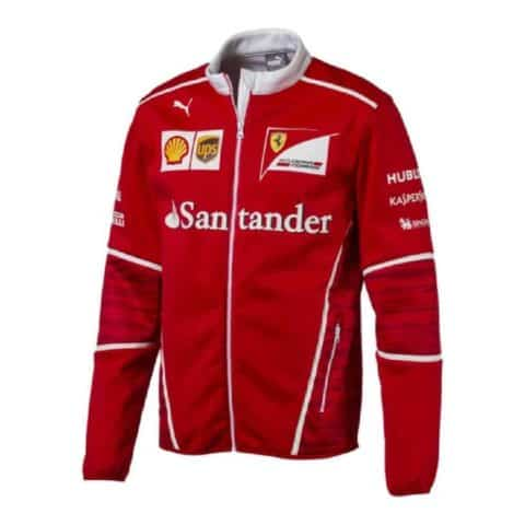 JACKET Soft Shell Mens Coat Fleece Scuderia Ferrari Formula One F1 2017