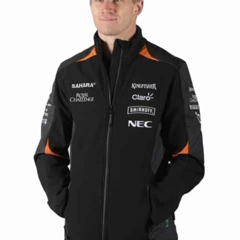 JACKET Softshell Formula One 1 Sahara Force India Team Sponsor F1 Black