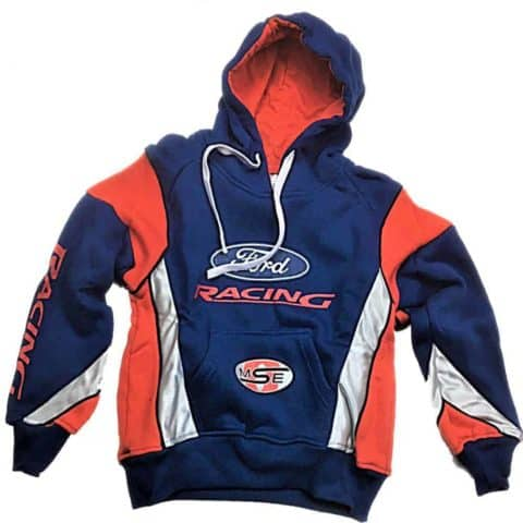 Sweatshirt Hooded Hoodie Adult Rally Cross OMSE Ford Racing Hoody Blue