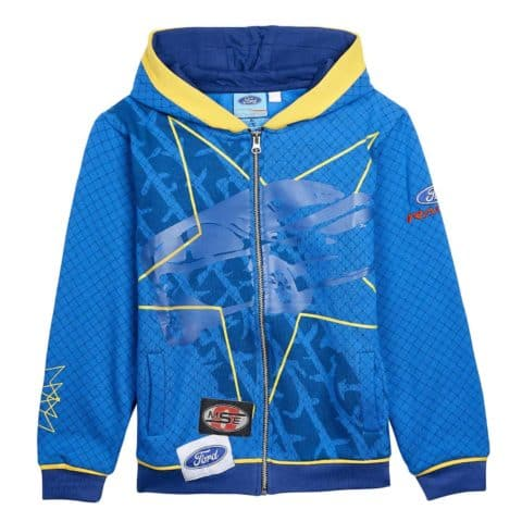 Sweatshirt Zip Hoody Child Rally Cross OMSE Ford Fiesta Extreme NEW Blue kids