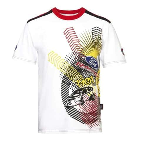T-Shirt 3029 RallyCross Shortsleeve MSE Ford Extreme Rally White