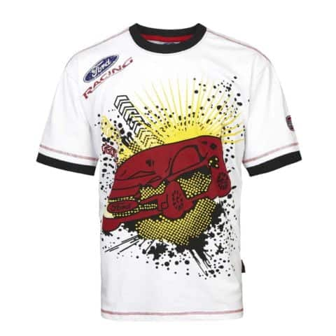 T-Shirt 3031 RallyCross Shortsleeve MSE Ford Splatter Rally X NEW White