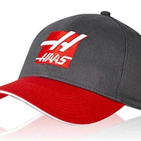 CAP Haas F1 Racing USA Formula One Team 1 Red Embroidered H Logo Dark Grey