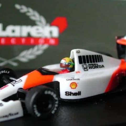 MODEL Car Senna #1 McLaren MP4/6 World Champion 1991 Formula One F1 1:87 Scale