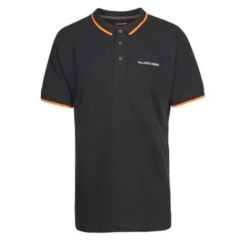 POLOSHIRT Polo Mens Formula One 1 McLaren Honda F1 Team Black Partner