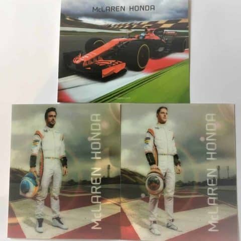 CARDS Information Formula One 1 McLaren Honda Alonso Vandoorne MCL32 Spec F1 NEW