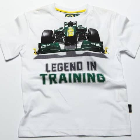 T-SHIRT Formula One 1 Team Lotus F1 Legend In Training White kids