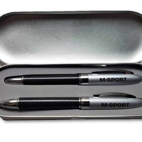 PENS X2 Ford M-SPORT Pen Set Ballpoint and Cartridge Fountain Rally Gift