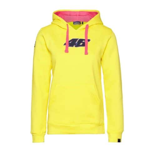SWEATSHIRT ladies Hoody Bike MotoGP No.46 Valentino Rossi NEW Hoodie Yellow