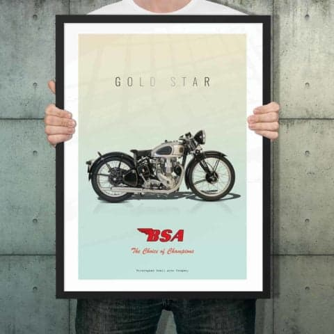 Automotive poster of BSA Gold Star