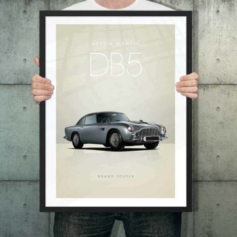 Automotive poster of Aston Martin DB5