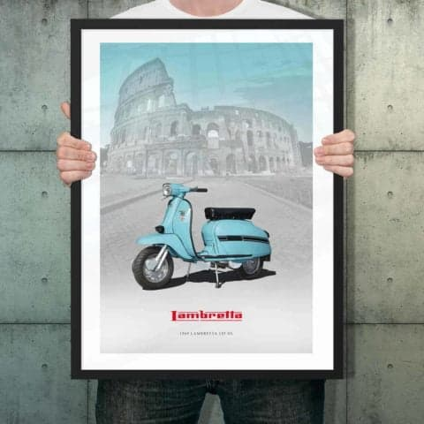 Automotive poster of Lambretta