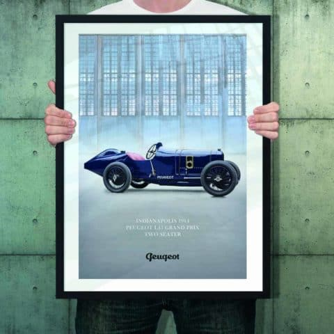 Automotive poster of Peugeot L45