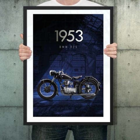 Automotive poster of BMW R25