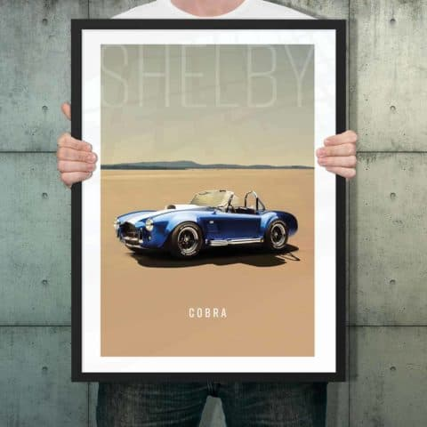 Automotive poster of Shelby Cobra