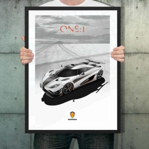 Automotive poster of Koenigsegg One:1