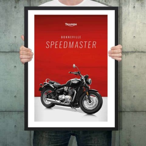 Automotive poster of Triumph Bonneville Speedmaster