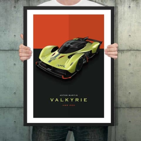 Automotive poster of Aston Martin Valkyrie