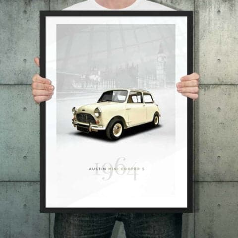 Automotive poster of Austin Mini Cooper S