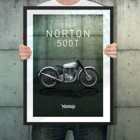 Automotive poster of Norton 500T