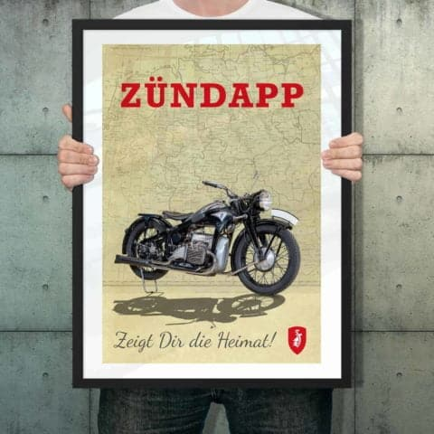 Automotive poster of Zundapp K800