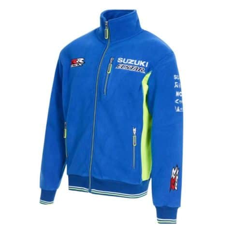 FLEECE Jacket Suzuki Ecstar Full Embroidered Zip Bike MotoGP Superbike