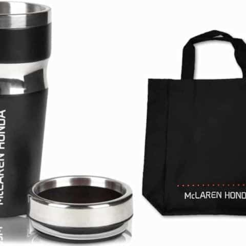 MUG TRAVEL & TOTE BAG Drinks McLaren Gift Formula One 1 F1 Team Souvenir