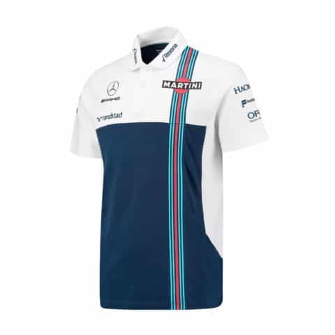 POLO Mens Williams Martini F1 Formula One 1 NEW Mercedes Poloshirt RP NAVY WHITE