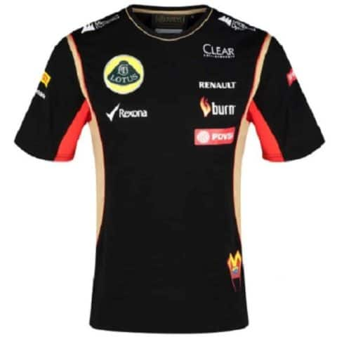 T-SHIRT Adult Formula One 1 Lotus F1 Team PDVSA Maldonado 2014/5