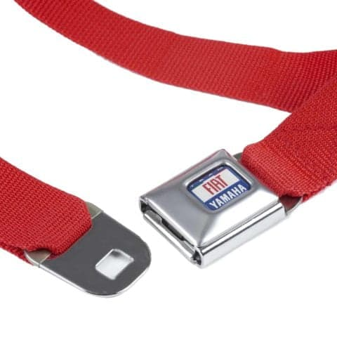 BELT Fiat Yamaha MotoGP Motorcycle Rossi Lorenzo Bike Seatbelt Red Webbing