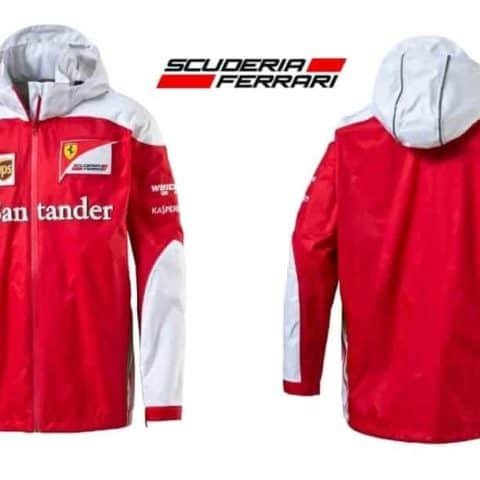 JACKET Scuderia Ferrari Team Mens Coat Sponsor Formula One F1 Red White