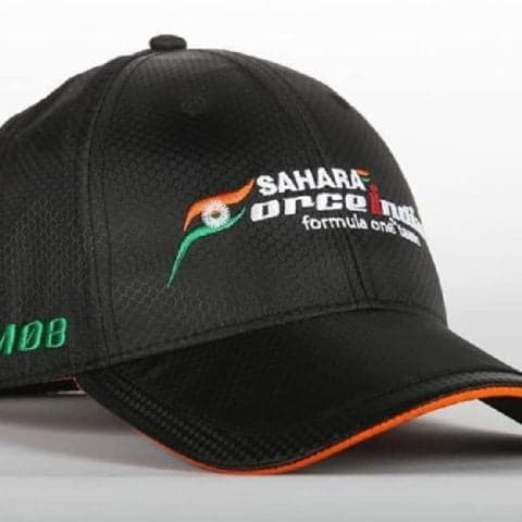 CAP Hat Formula One 1 Classic Sahara Force India F1 Team Black Carbon