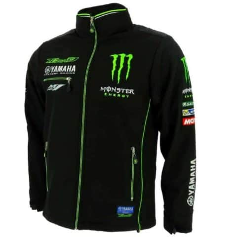 JACKET Soft Shell Bikes MotoGP Monster Softshell Tech 3 Yamaha Black