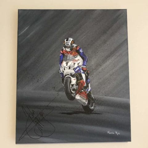 Signed John McGuinness painting