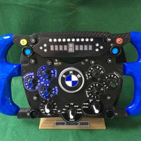 BMW Sauber Replica Steering Wheel