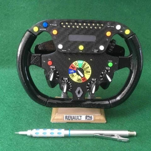 Fernando Alonso HALF SIZE replica Renault R26 steering wheel _F1. Not Amalgam.