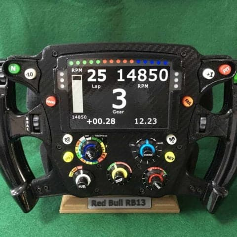 Red Bull RB13 Replica Steering Wheel