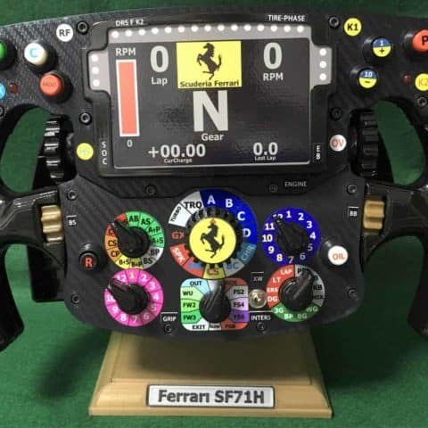 Vettel Raikkonen FULL SIZE replica SF 71H Ferrari steering wheel_F1. Not Amalgam