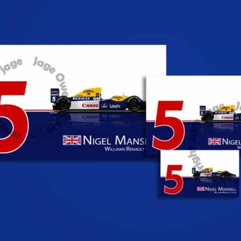 Nigel Mansell Williams FW14B 1992 F1 Sticker - Scuderia GP